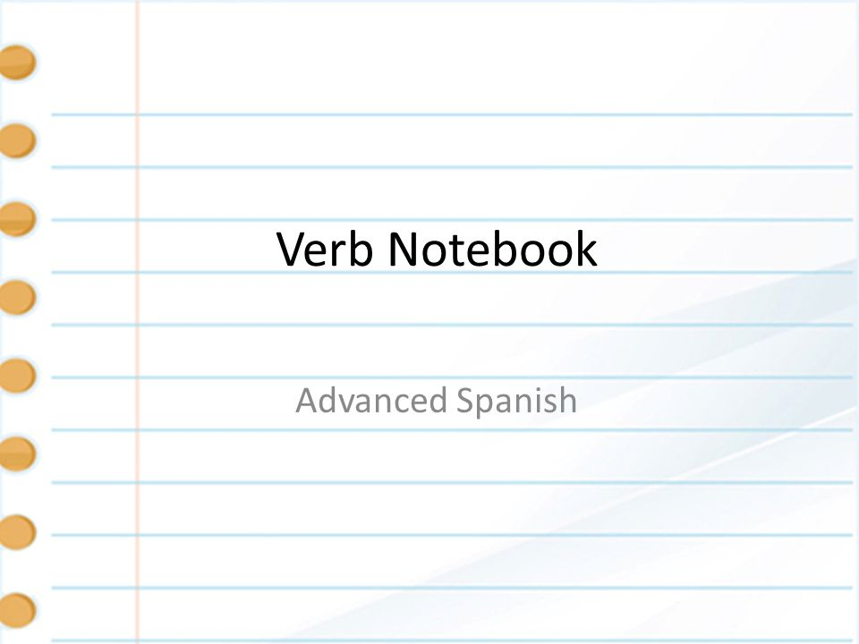Set up - Name On the inside of the front cover in the upper left hand corner write your name, class, and hour like this: – Mendy Guadalupe Colbert – Advanced Spanish – B1