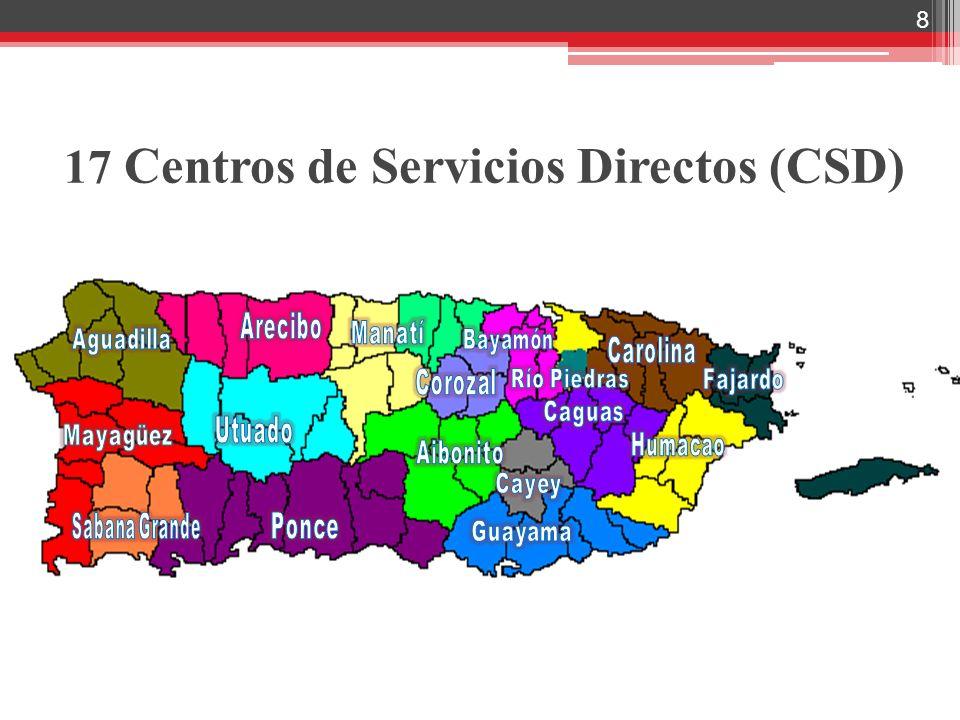 8 17 Centros de Servicios Directos (CSD)