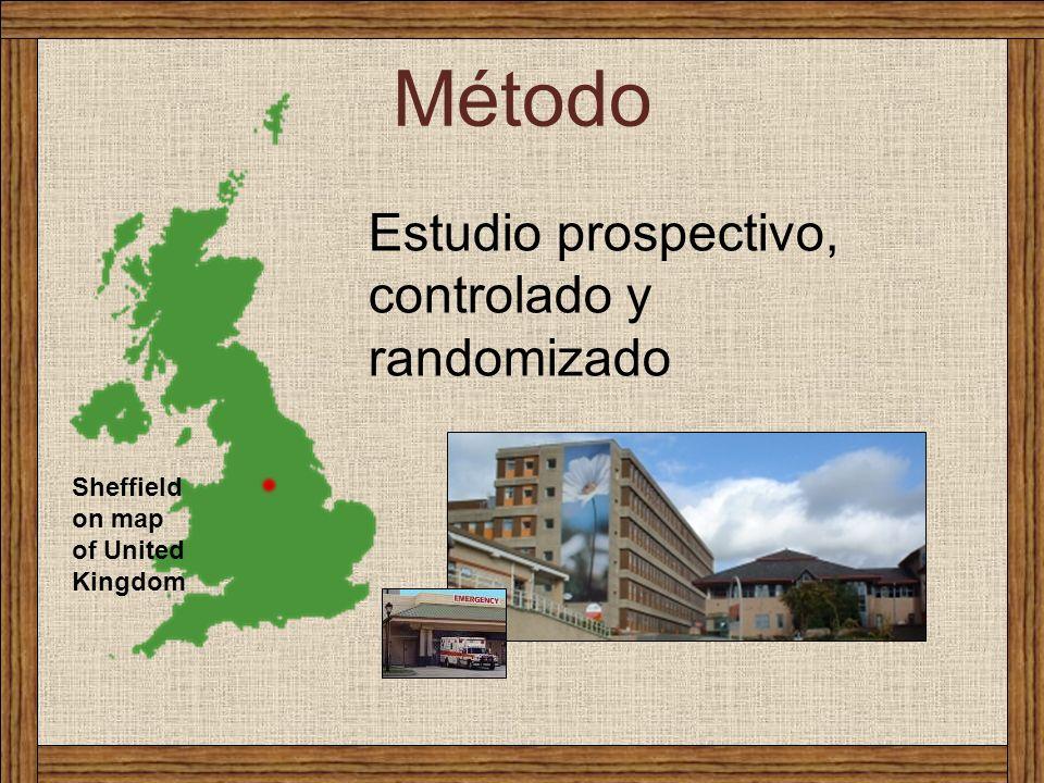 Método Sheffield on map of United Kingdom Estudio prospectivo, controlado y randomizado