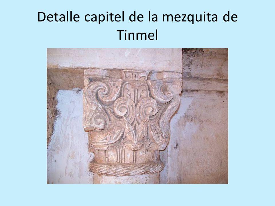 Detalle capitel de la mezquita de Tinmel