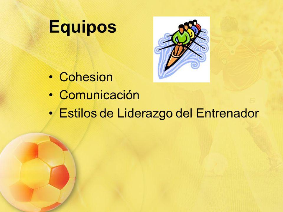 Equipos Cohesion Comunicación Estilos de Liderazgo del Entrenador