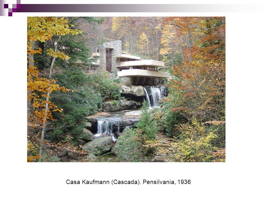 Casa Kaufmann (Cascada). Pensilvania, 1936
