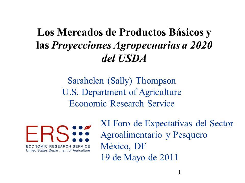 22 Importaciones EEUU de azúcar: Parte de México incrementa de 37 a 54% entre 2010/11 y 2020/21 Fuentes: USDA, Interagency Agricultural Projections Committee, y USDA, Foreign Agricultural Service.