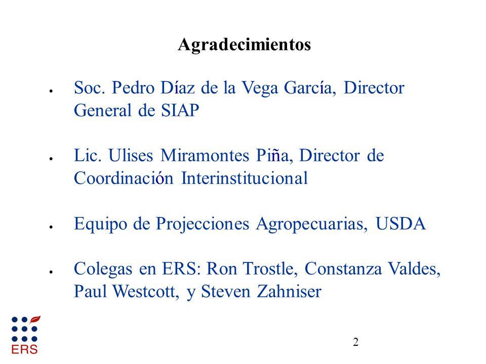 23 Distribución de exportaciones agropecuarias de EEUU a México, 2006-10 Fuente: USDA, Foreign Agricultural Service.