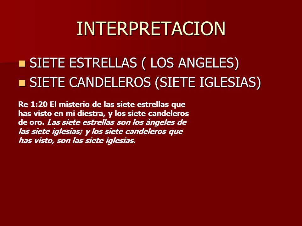 INTERPRETACION SIETE ESTRELLAS ( LOS ANGELES) SIETE ESTRELLAS ( LOS ANGELES) SIETE CANDELEROS (SIETE IGLESIAS) SIETE CANDELEROS (SIETE IGLESIAS) Re 1: