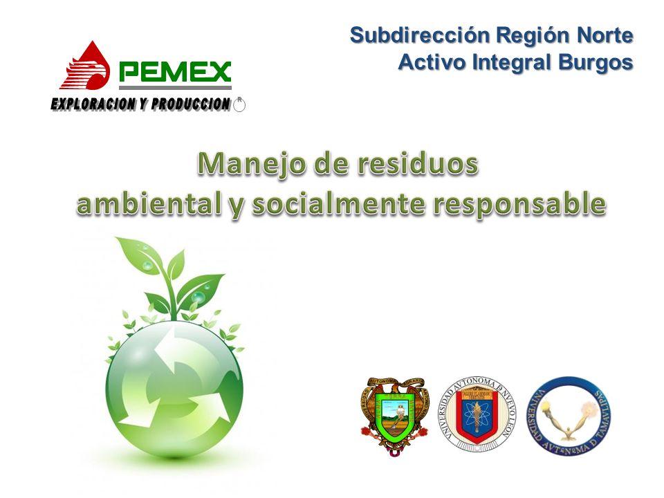 Objetivo Crear conciencia y sensibilizar a todo el personal de PEMEX, Exploración y Producción AIB, sobre la protección del medio ambiente mediante el manejo de residuos.