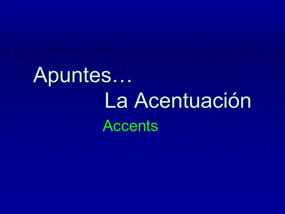 To know when a word needs an accent, you need to know...