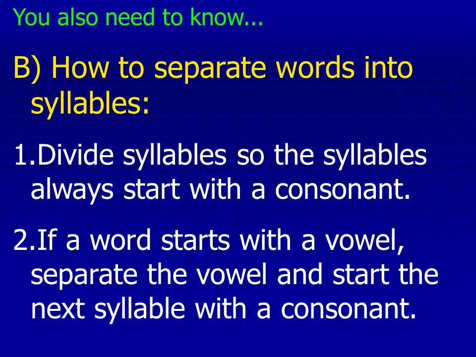 Divide these words into syllables: 1. silla 2. mañana 3. enemigo 4. amarillo 5. comedor
