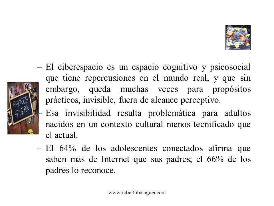 www.robertobalaguer.com –El ciberespacio es un espacio cognitivo y psicosocial que tiene repercusiones en el mundo real, y que sin embargo, queda much