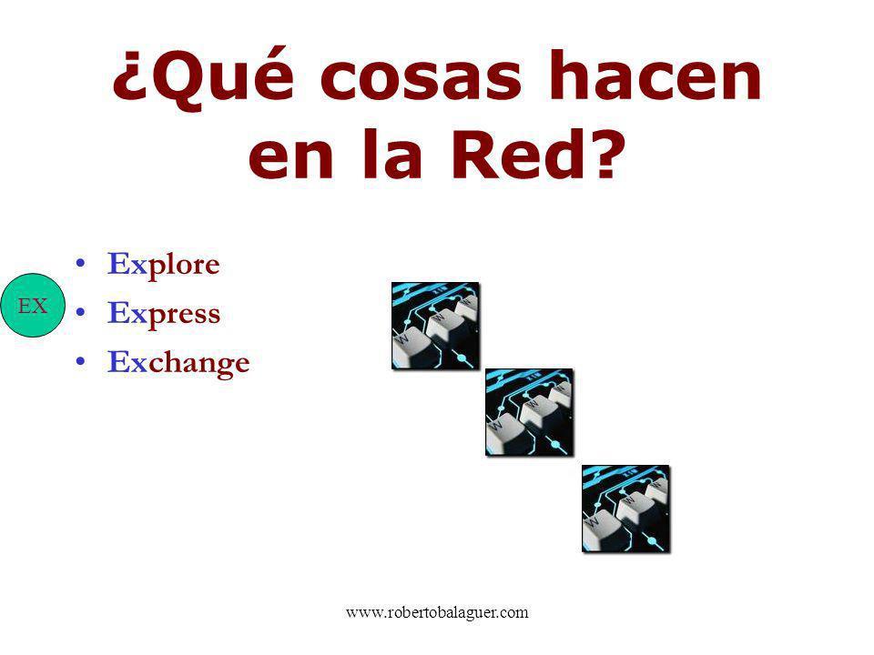 ¿Qué cosas hacen en la Red? Explore Express Exchange EX