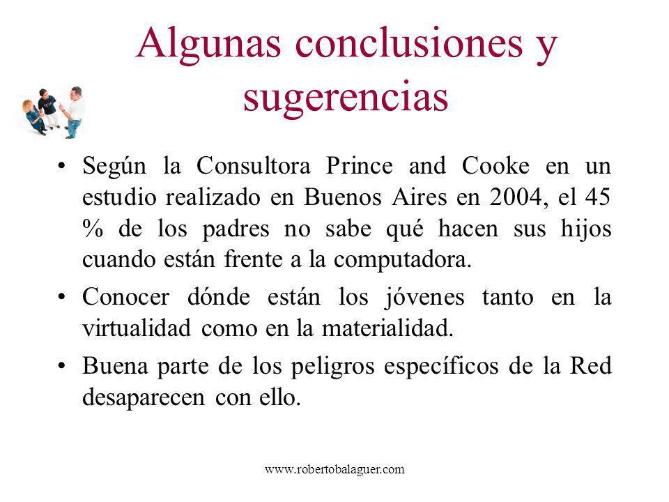 www.robertobalaguer.com Según la Consultora Prince and Cooke en un estudio realizado en Buenos Aires en 2004, el 45 % de los padres no sabe qué hacen