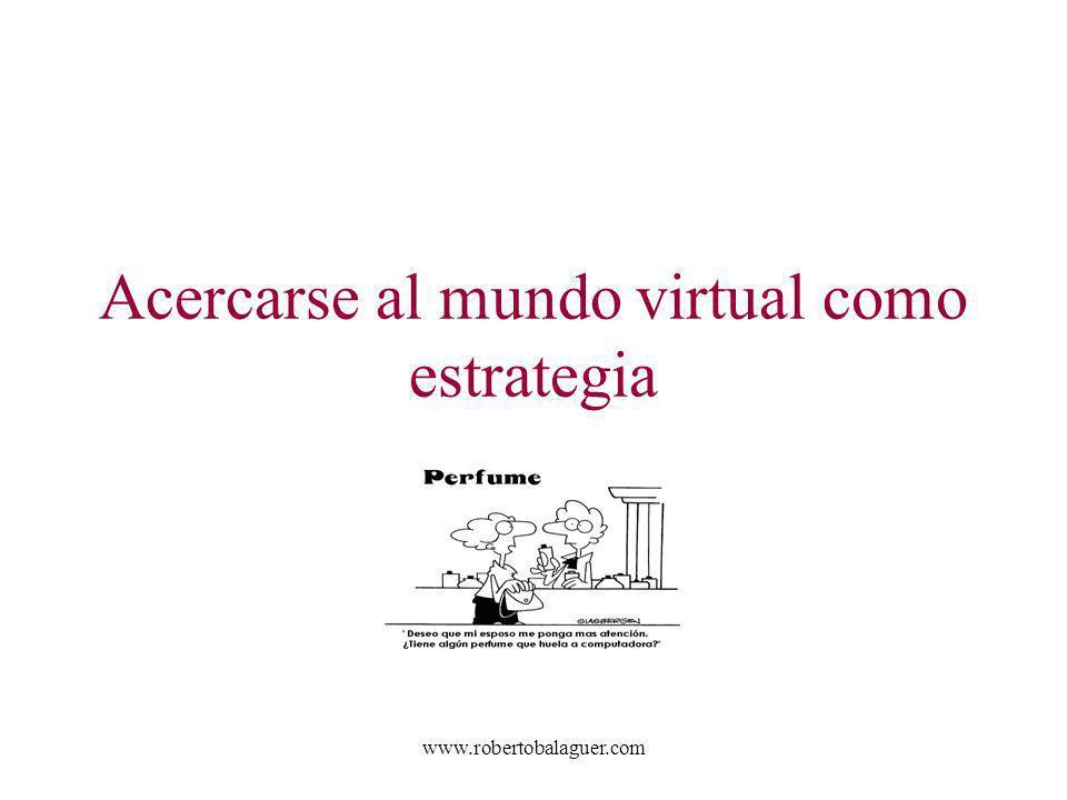 www.robertobalaguer.com Acercarse al mundo virtual como estrategia