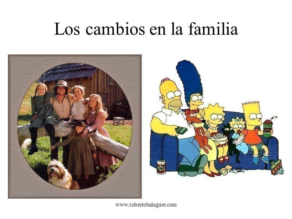 www.robertobalaguer.com Los cambios en la familia