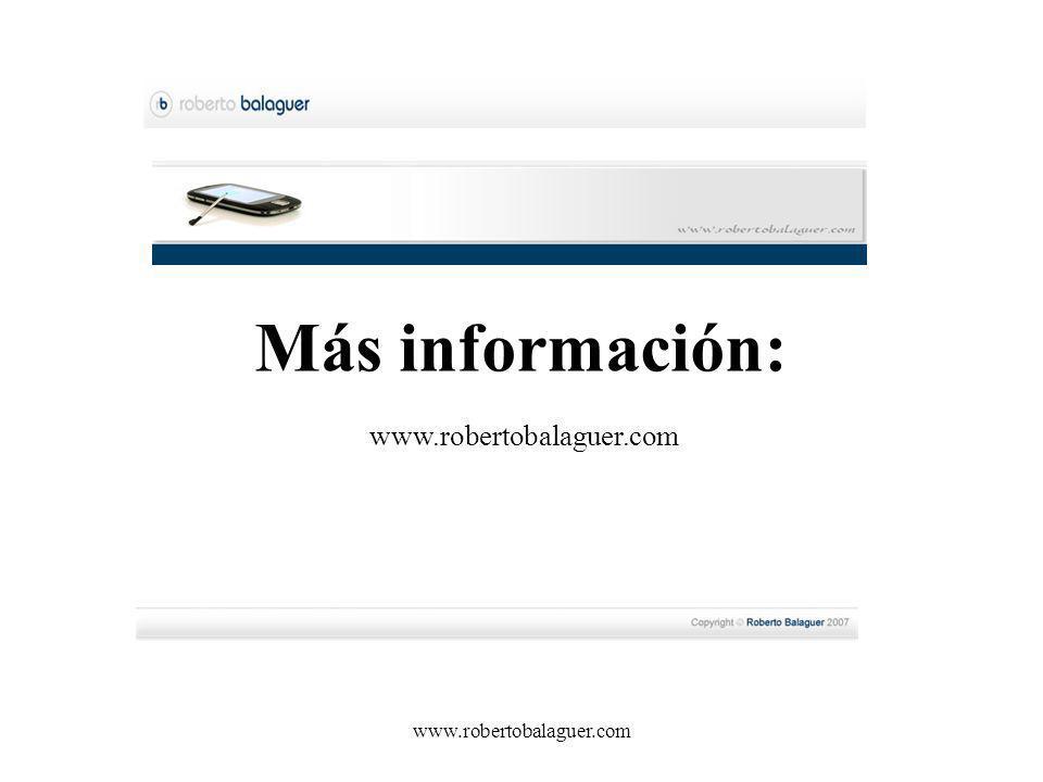 www.robertobalaguer.com Más información: www.robertobalaguer.com