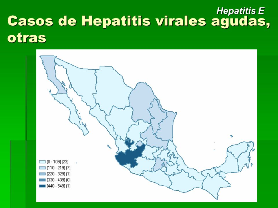 Casos de Hepatitis virales agudas, otras Hepatitis E