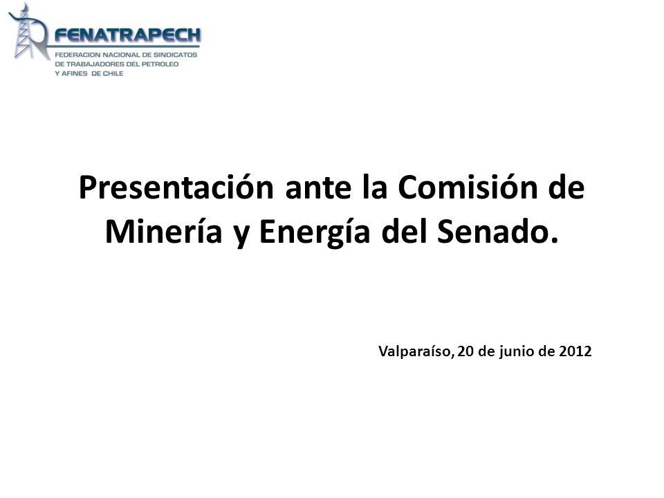 Presentación ante la Comisión de Minería y Energía del Senado. Valparaíso, 20 de junio de 2012