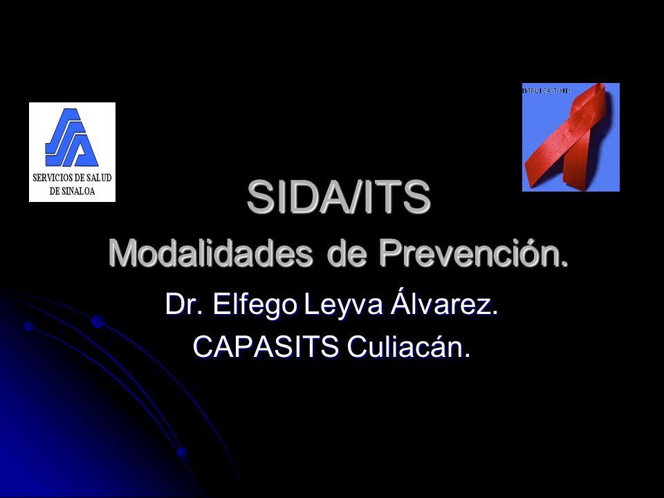 SIDA/ITS Modalidades de Prevención. SIDA/ITS Modalidades de Prevención. Dr. Elfego Leyva Álvarez. CAPASITS Culiacán.