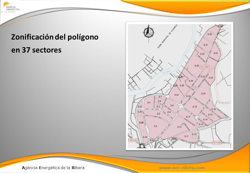 Agència Energètica de la Ribera www.aer-ribera.com Zonificación del polígono en 37 sectores