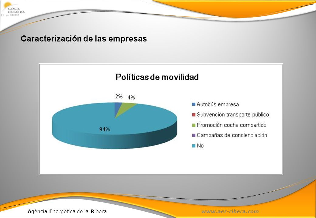 Agència Energètica de la Ribera www.aer-ribera.com Caracterización de las empresas