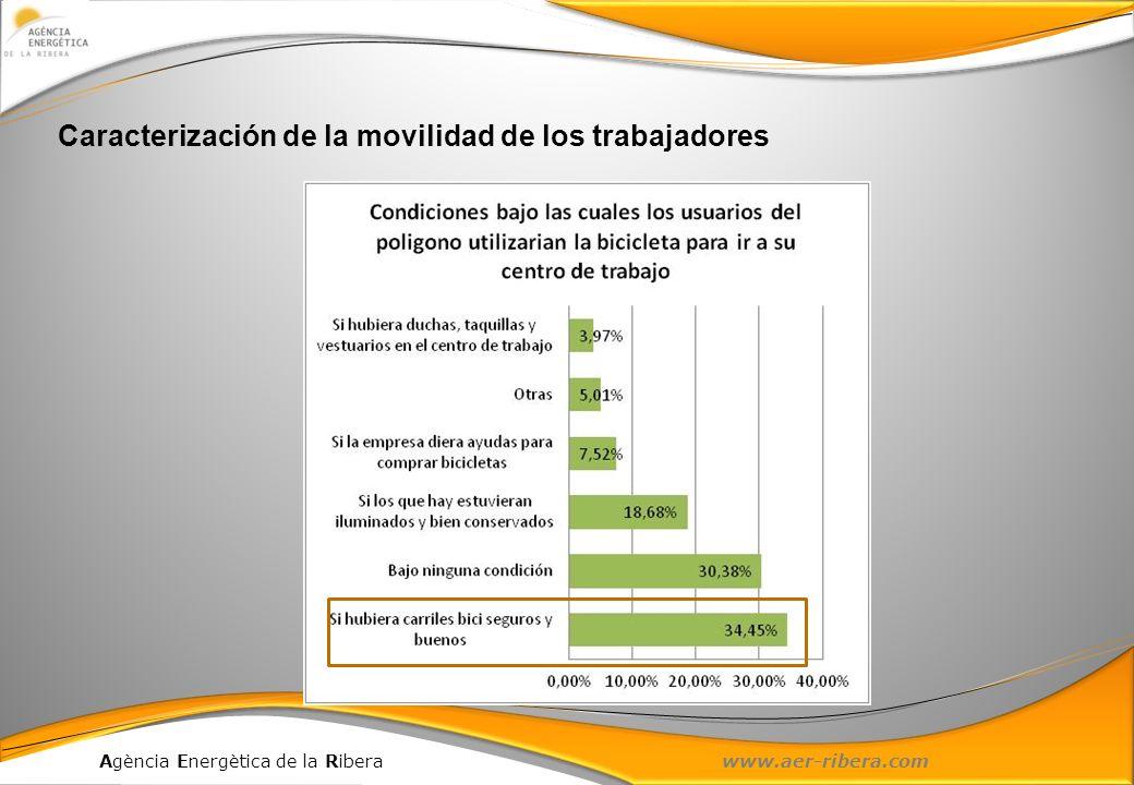 Agència Energètica de la Ribera www.aer-ribera.com Caracterización de la movilidad de los trabajadores