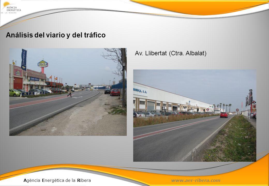 Agència Energètica de la Ribera www.aer-ribera.com Análisis del viario y del tráfico Av. Llibertat (Ctra. Albalat)