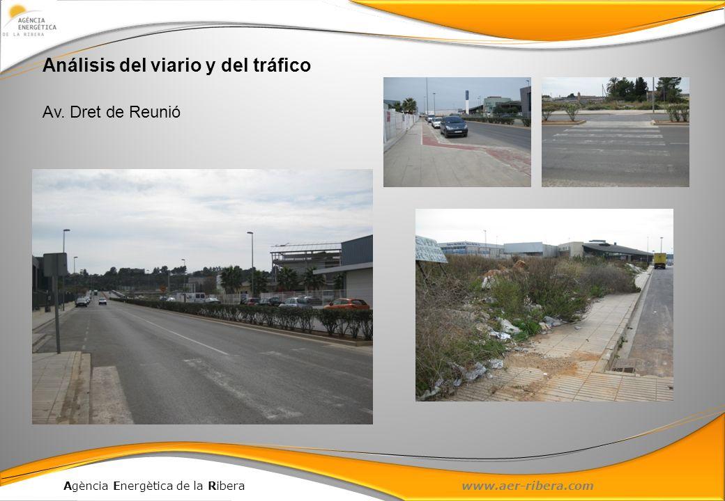Agència Energètica de la Ribera www.aer-ribera.com Av. Dret de reunió Análisis del viario y del tráfico Av. Dret de Reunió