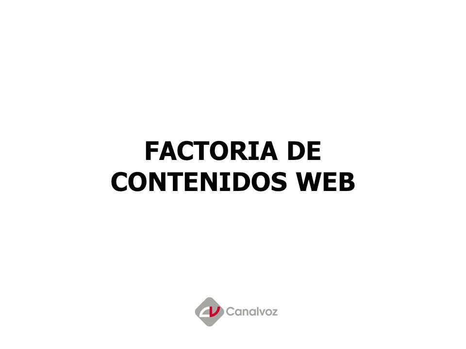 FACTORIA DE CONTENIDOS WEB