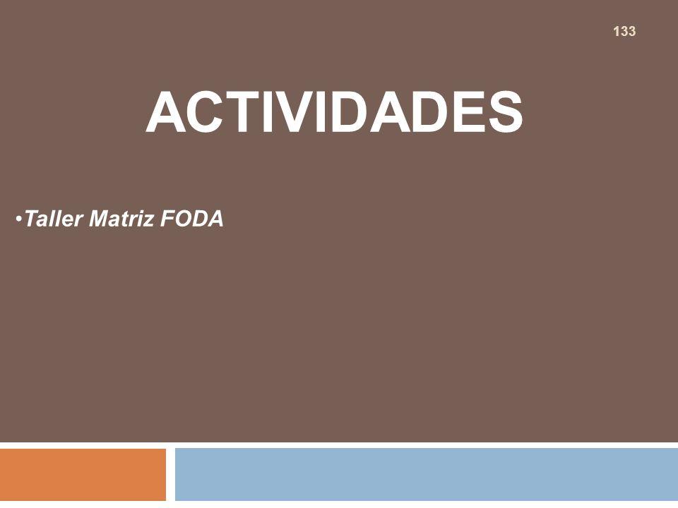 ACTIVIDADES Taller Matriz FODA 133