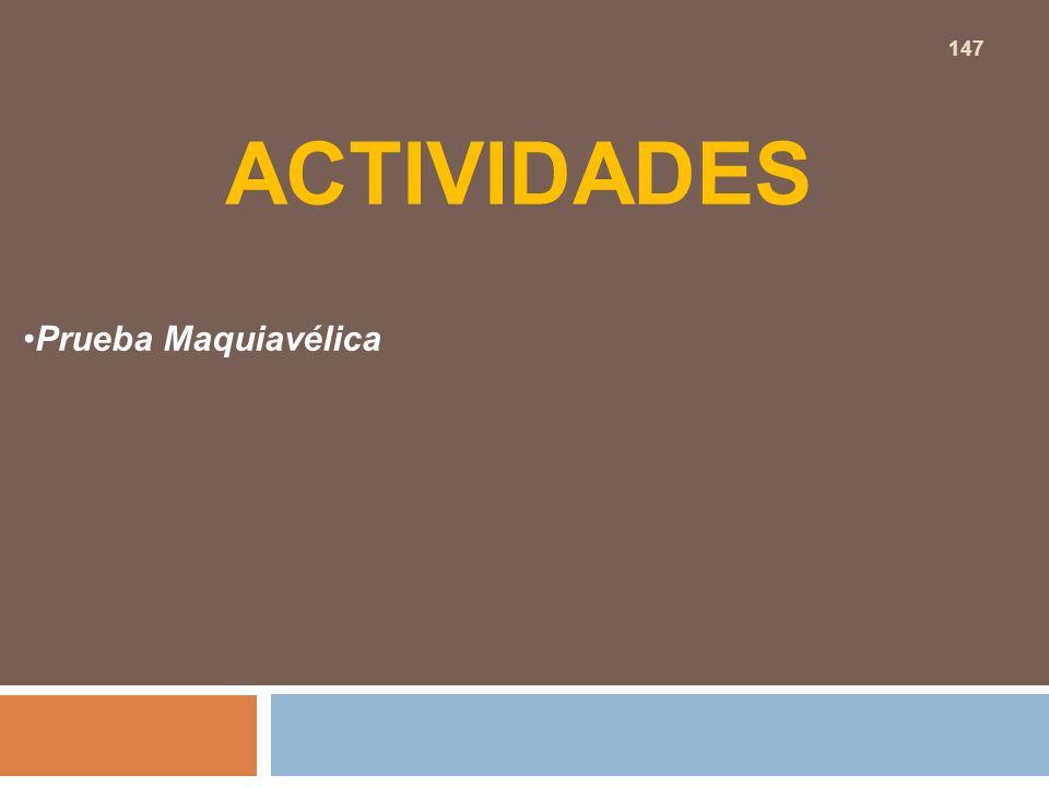 ACTIVIDADES Prueba Maquiavélica 147