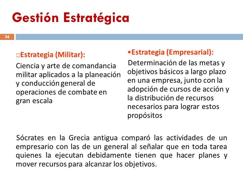 34 Estrategia (Militar): Ciencia y arte de comandancia militar aplicados a la planeación y conducción general de operaciones de combate en gran escala