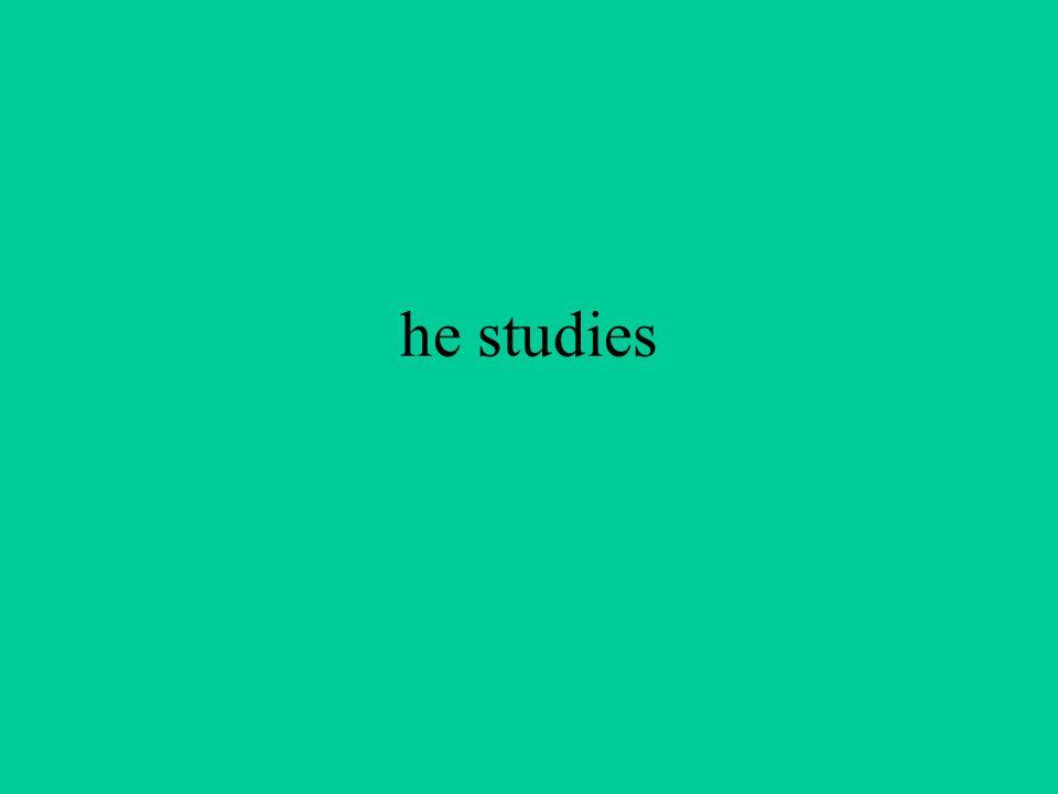 he studies