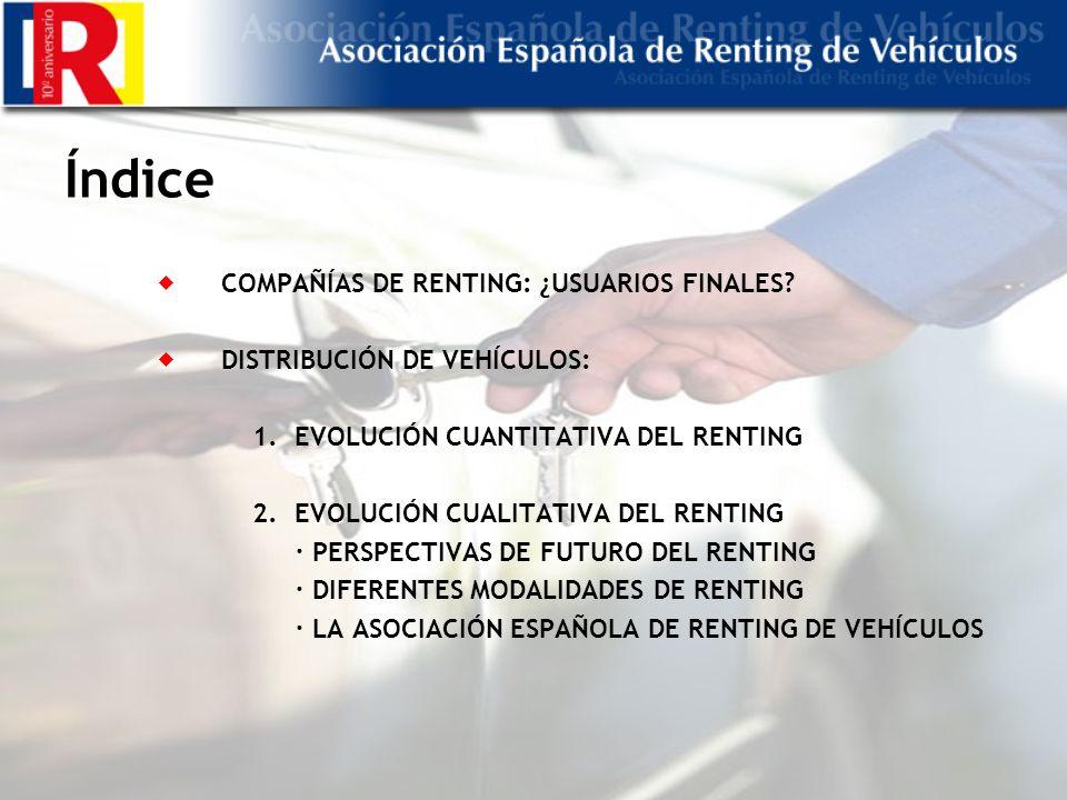 Índice COMPAÑÍAS DE RENTING: ¿USUARIOS FINALES.