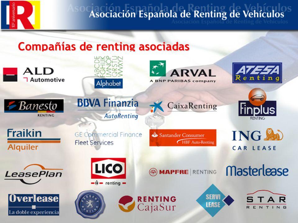 Compañías de renting asociadas