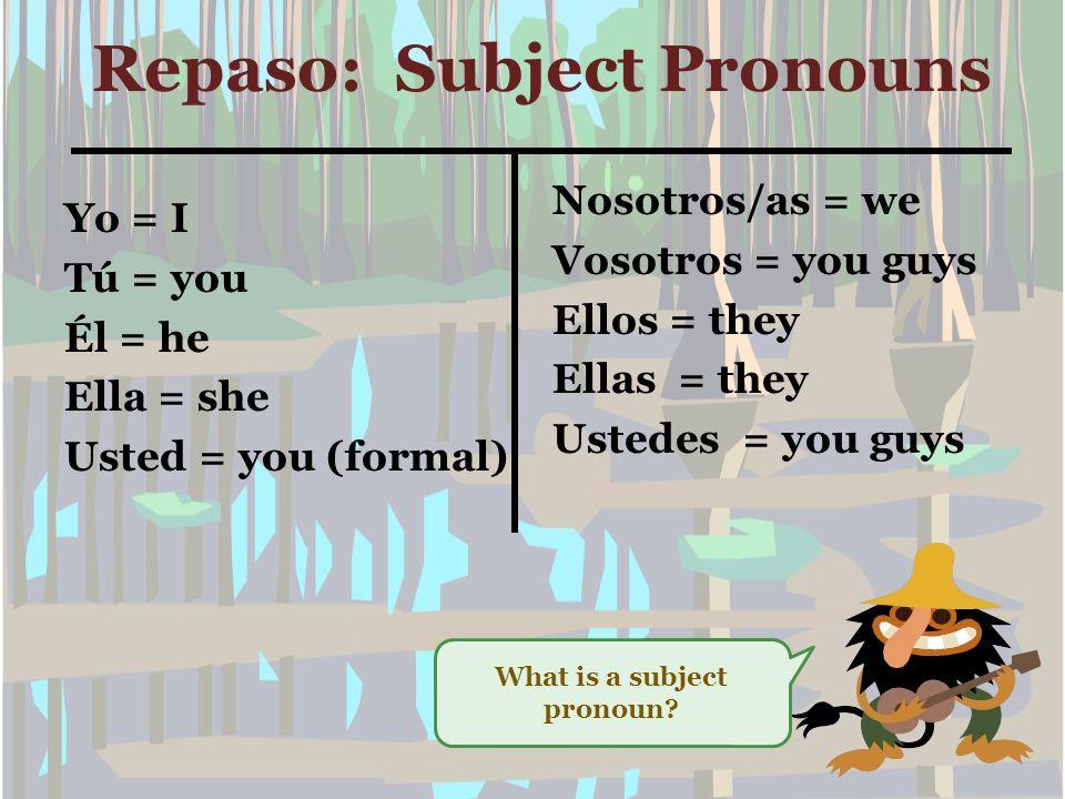 Now, Lets find out what an –AR verb is! ¿Qué es un verbo –AR?