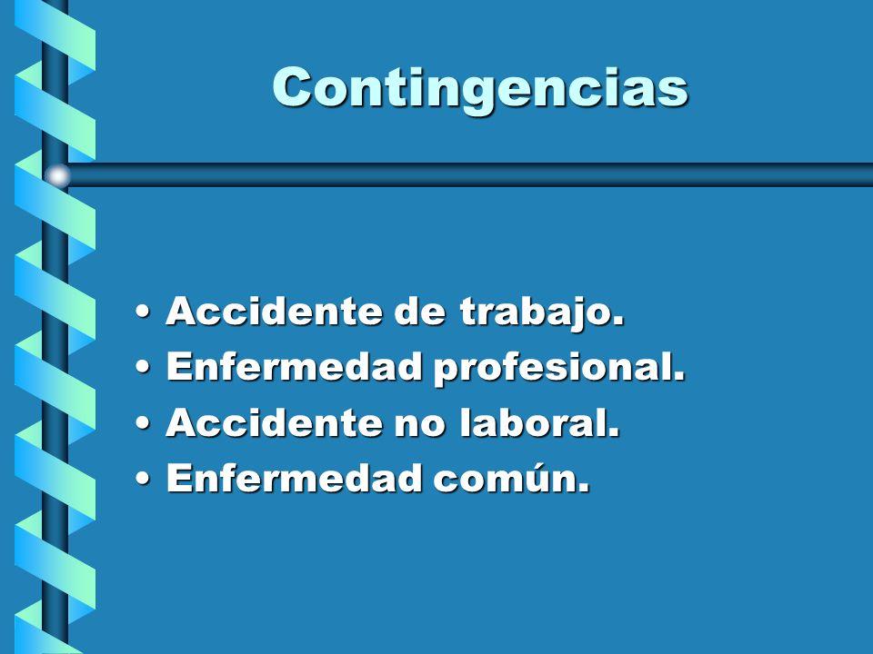 Desde cuando y cuanto Contingencias PROFESIONALESContingencias PROFESIONALES Desde el día siguiente al de la baja.