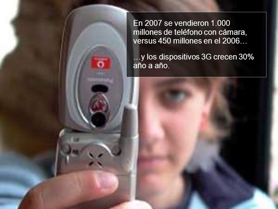 En 2007 se vendieron 1.000 millones de teléfono con cámara, versus 450 millones en el 2006… …y los dispositivos 3G crecen 30% año a año.