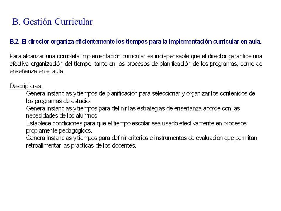 B. Gestión Curricular