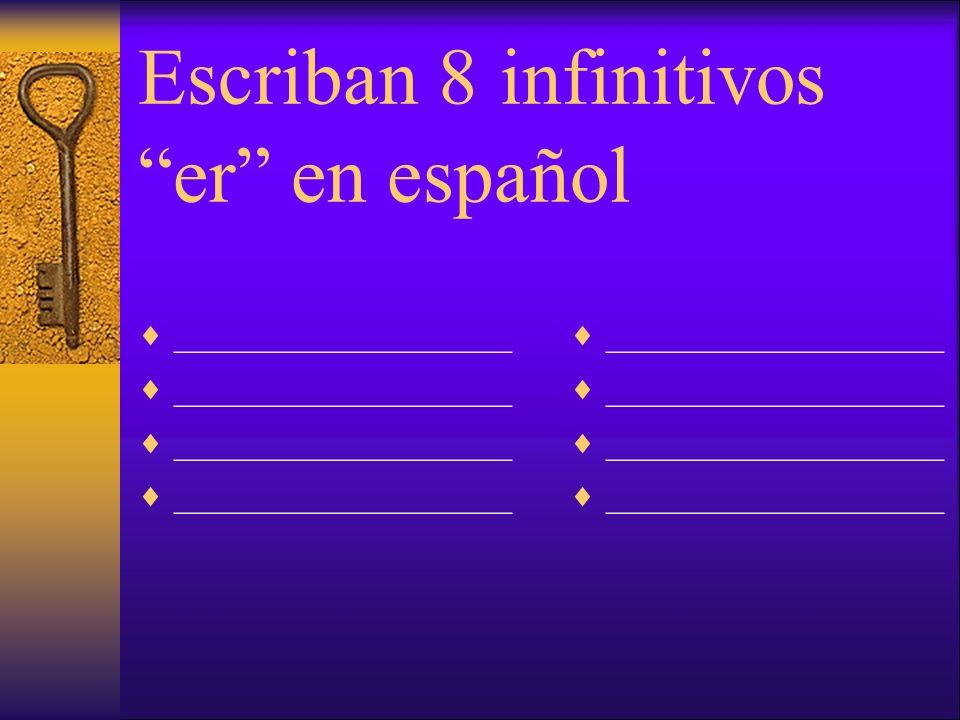 Escriban 10 infinitivos ar en español __________________