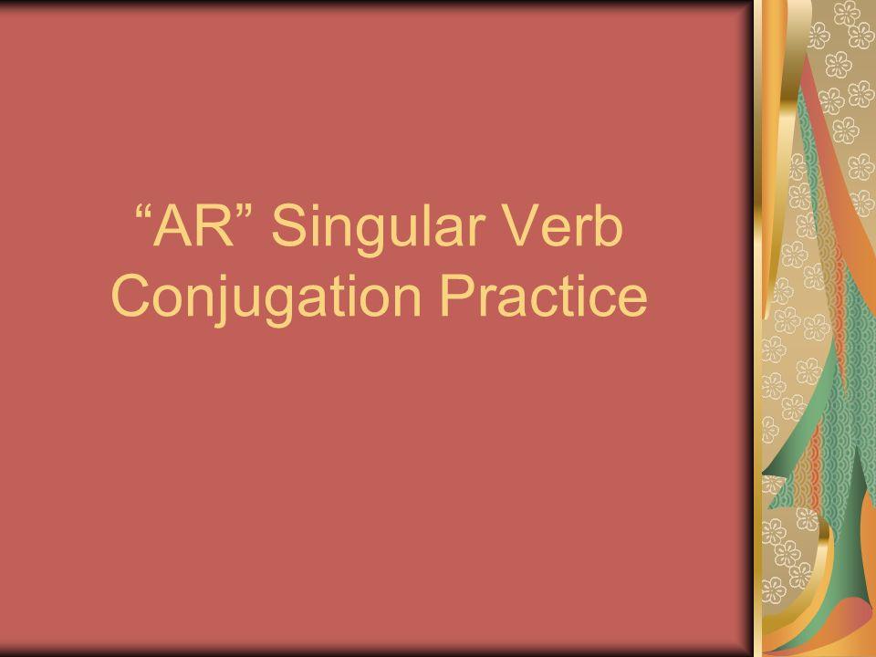 AR Singular Verb Conjugation Practice