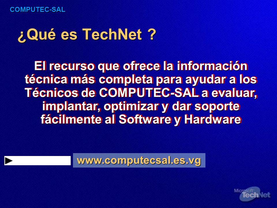 COMPUTEC-SAL ¿Qué ofrecerán nuestros TechNet.