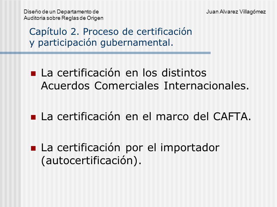 Diseño de un Departamento de Juan Alvarez Villagómez Auditoria sobre Reglas de Origen Que se difunda su creación y marco de actuación.