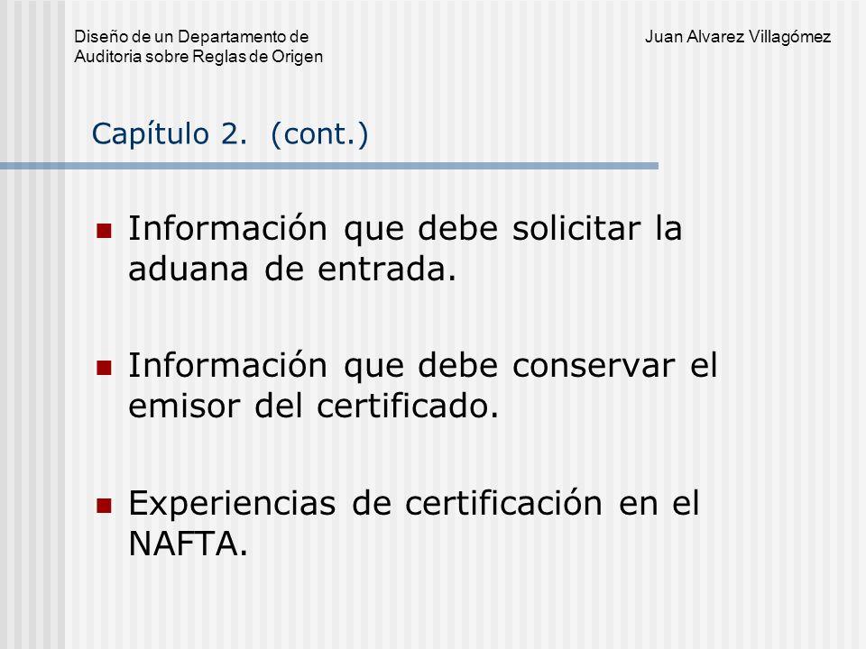 Diseño de un Departamento de Juan Alvarez Villagómez Auditoria sobre Reglas de Origen Procedimientos de denuncia ágiles y transparentes.