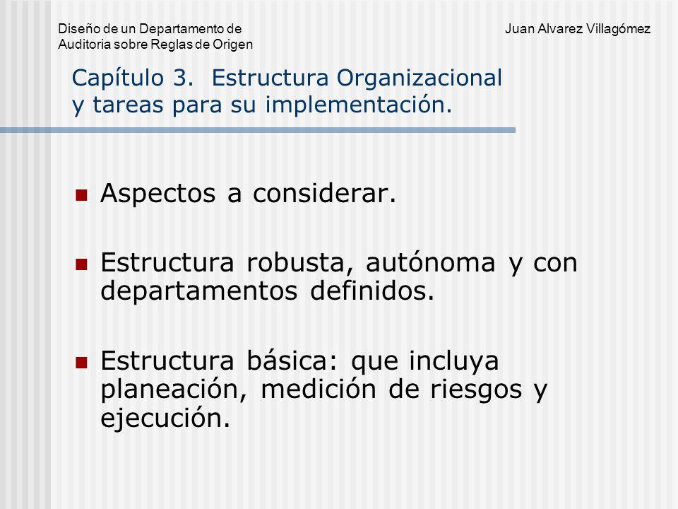 Diseño de un Departamento de Juan Alvarez Villagómez Auditoria sobre Reglas de Origen Capítulo 3.