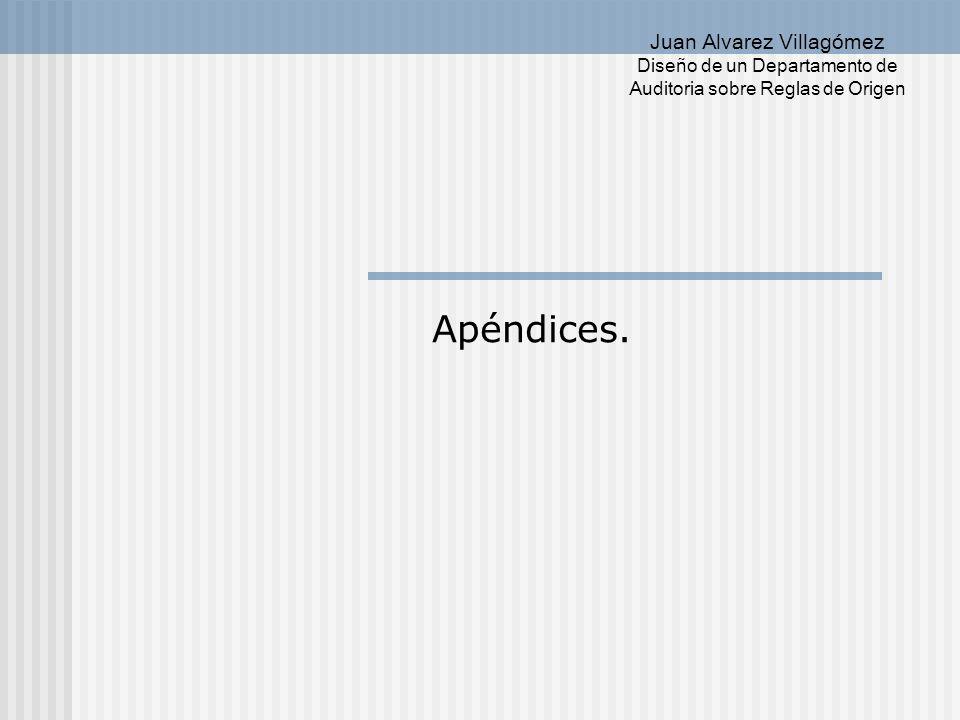 Diseño de un Departamento de Juan Alvarez Villagómez Auditoria sobre Reglas de Origen Apéndice I.