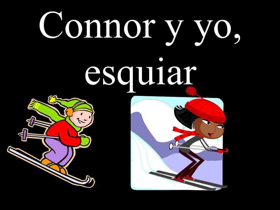 Connor y yo, esquiar