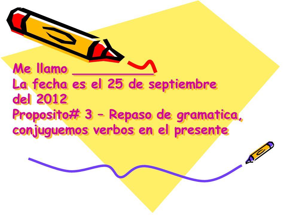 Conjugating AR Verbs in Español Step 1- Take off the –ar ending – Laura y Carolina Habl Step 2- Find the matching pronoun.