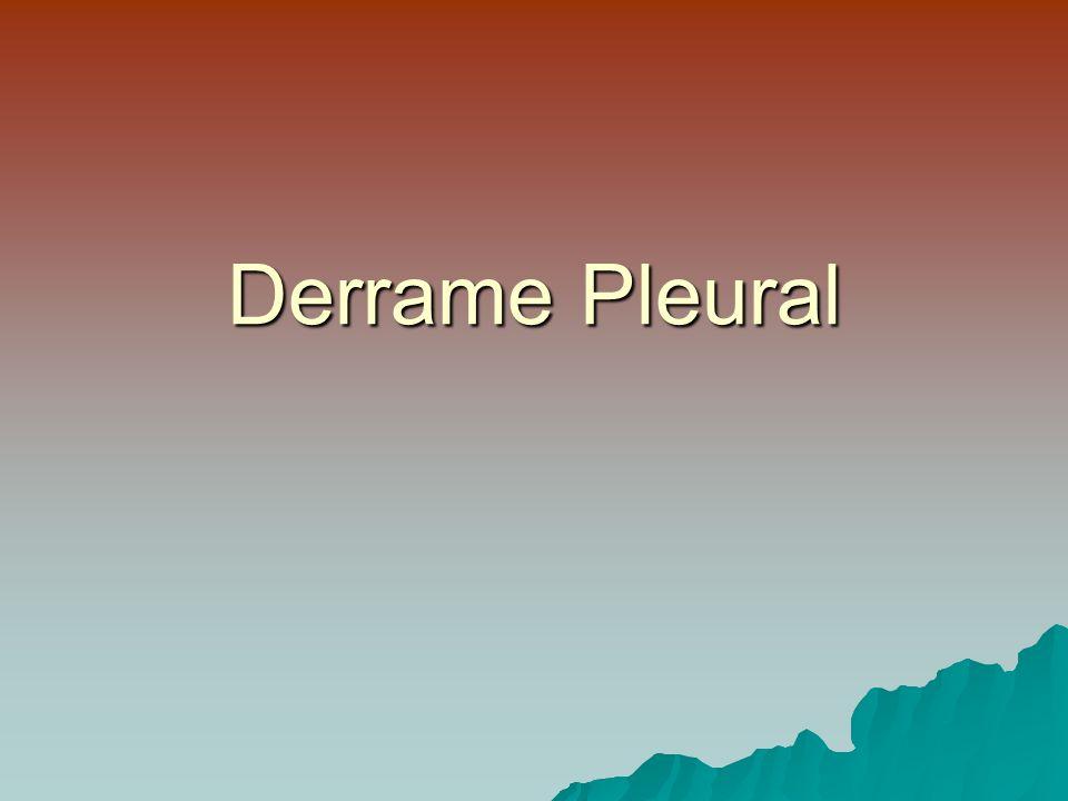 Derrame Pleural Paraneumónico Rx en decúbito > 1 cm toracocentesis pH, Glucosa, F-Q + Cuadro Clínico (tos, expectoración, fiebre, leucocitosis) Derrame no complicado Tratamiento médico Derrame complicado Nueva toracocenesis Cont.