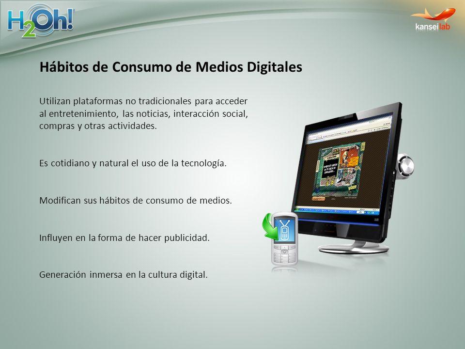 Hábitos de Consumo de Medios Digitales Utilizan plataformas no tradicionales para acceder al entretenimiento, las noticias, interacción social, compra