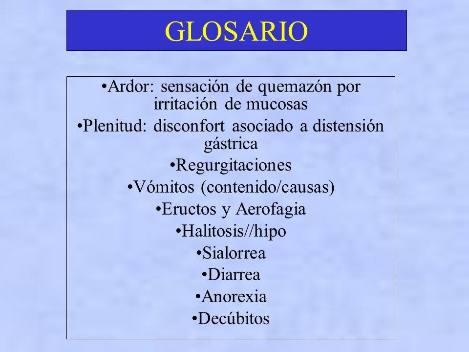 GLOSARIO Espacio de Traube Síndrome hiperestenico: signos y síntomas asociados a trastorno de la motilidad y secreción gástrica Chapoteo gastrico