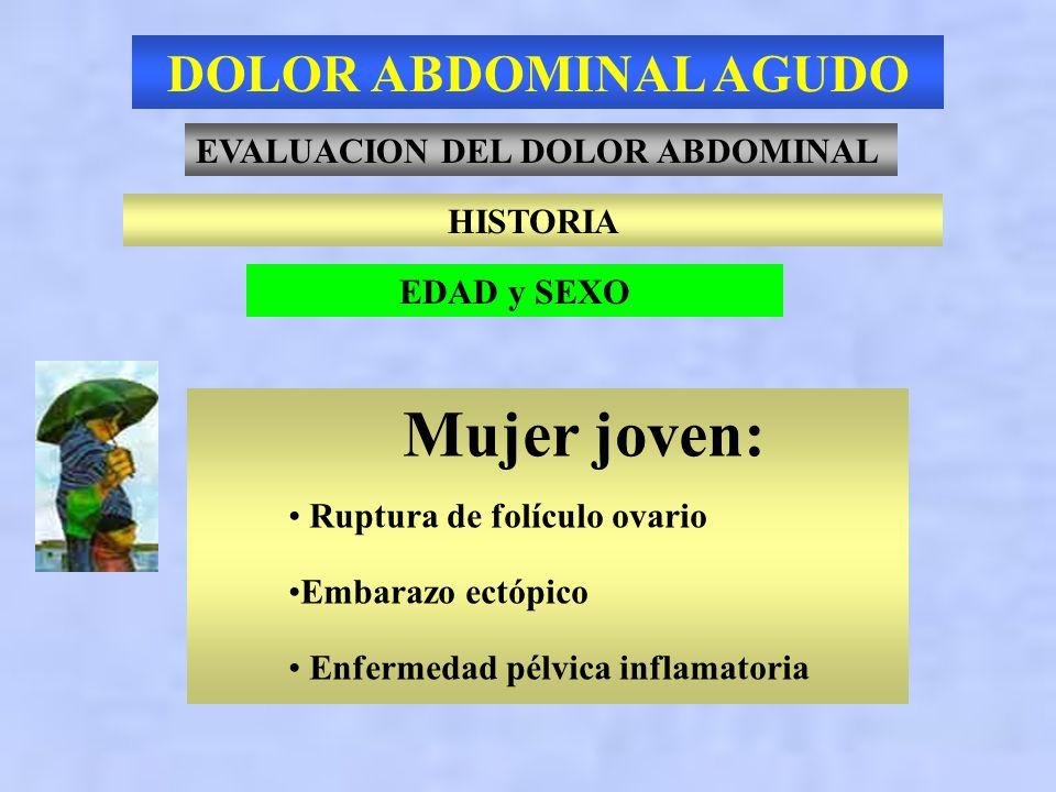 ABDOMEN AGUDO Patología > 50 años Colecistitis 21 % Inespecífico 16 % Apendicitis 15 % Obstrucción intestinal 12 % Pancreatitis 7 % Enfermedad diverti
